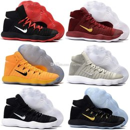 Wholesale Orange Basketball Shoes Kids - 2017 Hyperdunk EP with Airs Cushion Woven Olympic Basketball Shoes for Women Mens Big Kid Top quality Paul George Sports Sneakers Size 40-46