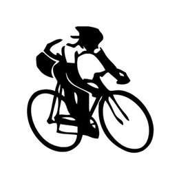 Wholesale Cycling Stickers Decals - Bike Car Sticker Cycling Swimming Running Sports Enthusiasts Car Stickers And Decals Motorcycle Exterior Accessories JDM