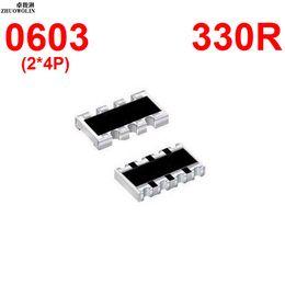 Wholesale Array Networks - Wholesale- 100pcs Lot 5% 0603 ARRAY 330 OHMS 8P Chip Resistor Networks Arrays Array Resistor YXSMDZ3491