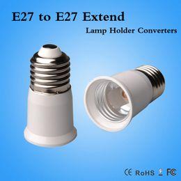 Wholesale Extended Socket - E27 to E27 Extender Lamp Holder Base Bulb Extend Extension Socket Adapter LED Light Adapter Converter CE ROHS