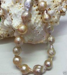 "Wholesale Natural Baroque Pendant - Rare 16-20mm Natural South Baroque Lavender Akoya Pearl Fashion Necklace 18"""