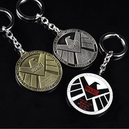 Wholesale God Hearts - Best gift Mangwei movie anger Avenger Union God Shield Bureau agents Seal key ring car accessories KR069 Keychains mix order 20 pieces a lot