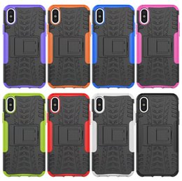 Wholesale Dazzling White Wholesale - For Iphone 8 Case Dazzle Kickstand ShockProof Iphone8 I8 5.1inch Rugged Hybrid Armor Hard Plastic PC +TPU Dual Heavy Anti-Skid Holder Skin