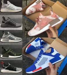 Wholesale Table Tennis Footwear - With Shoes Box New NMD XR1 Black Friday Duck Camo olive Sneakers Men White Duck Camo Footwear Women Running Shoes