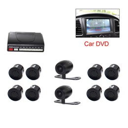 Wholesale Rearview Lcd Parking Sensor - CAR Video eight sensors parking sensors 4 front 4 rear bibi sound TFT LCD DVD Rearview mirror monitor PZ600-8 free epacket
