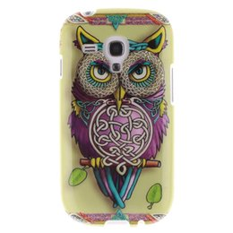 Wholesale Cover Phone Galaxy S3 Mini - 10 Designs Cartoon Owl Flower Soft IMD TPU Case For Samsung Galaxy S3 Mini i8190 Flexible Phone Cover