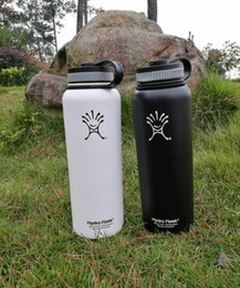 Wholesale Electric Hot Water Bottles - NEW 32oz 40oz Hydro Flask Cups Insulated Stainless Steel Hydro Flask Water Bottle Wide Mouth Water Bottle outdoor sport cup
