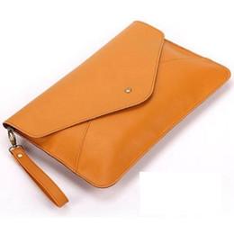 Wholesale Document Handbag - Wholesale PU ladies clutch shoulder bag Ladies' PU Handbags Fashion Envelope Clutch Evening Bags women document clutch bag