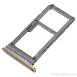 Wholesale sim card memory sd holder - 100% New Single Sim Micro SD Memory Card Tray Holder Slot For Samsung Galaxy S7 G930 s7 edge G935 Free shipping