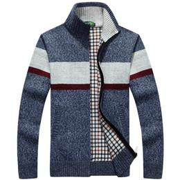 Wholesale thick cardigan sweaters for men - Men Winter Cardigan sweater korean male turtleneck jackets for men outdoor coats suit Slim Fit Pullover Wool Knitwear