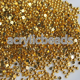Wholesale Arts Crafts Pearls - Glitter Acrylic Gold Half Imitation Pearl Round Flat Back Beads Cabochons Deco Scrapbooking Nail Art Craft 1.5 2 2.5 3 4mm