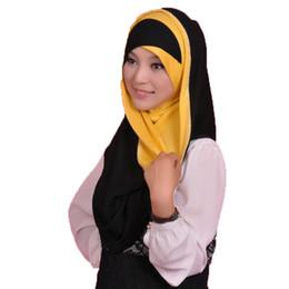 Wholesale Abaya Scarf - Wholesale-Muslim hijabs Women Inner caps Islamic Turban ScarveS Shawl Muslim Abaya Garment Islamic bonnet hijab underscarf Head Cover