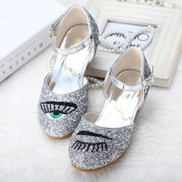 Wholesale Kids Dance Heels - 2017 Fashion Kid Dancing Shoes Princess High Heels Baby Girl Dress Shoes Kids Girls Sandals Child Designer Sandal Children Footwear CK236