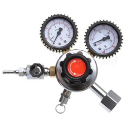 Wholesale Regulator Gauge - Wholesale- 1pc High Quality CO2 System Regulator Adjustable G1 2 Dual Gauge Regulator For Carbon Dioxide Beer Soda Homebrew