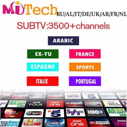 Wholesale 3400 SUBTV IPTV Account Apk Europe IPTV Arabic include Spanish USA Sky IT TR UK DE Channels Support Android Enigma2 Mag