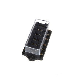 Wholesale Blade Fuse Sizes - ZOOKOTO Vehicle 6 Way Circuit Automotive Middle-sized Blade Fuse Box Block Holder for Universal Car Truck