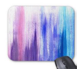 260*210 * 3 мм резина и ткань розовый фиолетовый краска мазки кисти окрашены акварель коврик для мыши нескользящей резиновый коврик для мыши от