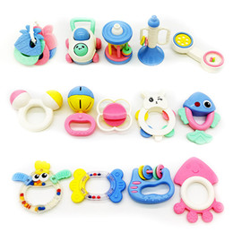 Wholesale 14pcs set Baby Rattles Teether Ball Shaker Grab and Spin Rattle Teether Toy Play Set for Baby Infant Non Toxic Colorful Toddler Toys