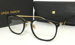 Wholesale Frames Using - Top quality LINDA FARROW spectacle frame round flat box using the LFL restoring ancient ways men and women   251 2 glass frame