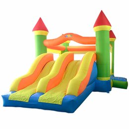 Wholesale Design Bounce - New Design large Size Dual Slide Inflatable Combo Bounce House Bouncy Castle Moonwak Double Silde Party For Kids