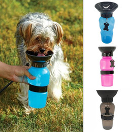 Wholesale Indoor Outdoor Design - Anti-spill out design Dog Feeding Water Bottle Outdoor Sport Travelling Kettle Bowl Drinking Plastic Pet Products Newest