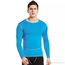 Wholesale Men Winter Warm Shirts - Men 's Tight Training Sports Fitness Running Long Sleeve Tops Warming Dry Skirts Winter T - Shirts