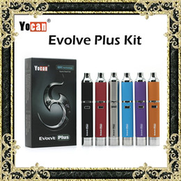Wholesale Kit di penna e kit di sigarette di cera Yocan Evolve Plus Kit di sigarette viola con quarzo supplementare Batteria mAh a doppia bobina colori originale al