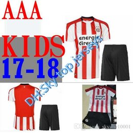 Wholesale Name Boy Shirt - wholesale KIDS 2017 2018 PSV Eindhoven home soccer jersey Top quality 17 18 Eindhoven jerseyS free shipping custom name football shirts