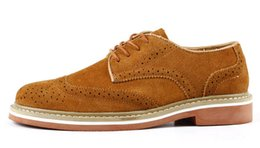 Wholesale Vintage Brogues Mens - Hot Sale EUR38-44 New Vintage Nubuck Leather oxford Brogue Wingtip mens Slip on Casual shoes