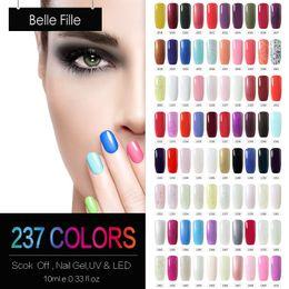 Wholesale Sweet Colors Nails - Wholesale-10ml 237 Sweet Candy Pure Colors Gel Holographic Nail Polish UV Led Manicure Gel Nail Varnish Nail Polish Vernis Semi Permanent