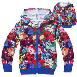 Wholesale Kids Jacket Animal Hoodie - Baby Boys Girls Trolls Coat Cartoon Long Sleeve Sweatshirts Zipper Hoodie jacket Kids Casual Outwear 5 p