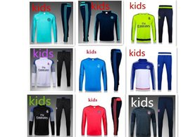 Wholesale Best Quality Cotton - BEST THAI QUALITY 15-2016-17 Real Madrid KIDS BOYS soccer chandal football tracksuit Children's KIDS training suit skinny pants Sportsw