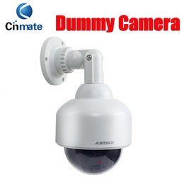 Wholesale Outdoor Dummy Dome Cctv Cameras - Fast DHL Emulational Fake camera Dome Dummy Camera for Home Security CCTV Camera with Red Blinking LED Waterproof outdoor & indoor use