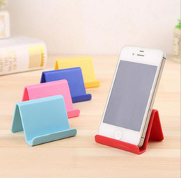 Wholesale mobile homes supplies - Korean Style Mobile Phone Holder Creative Cute Candy Mini Portable Phones Fixed Holder Simple Debris Storage Rack Home Supplies