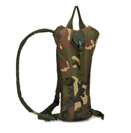 Wholesale Bicycle Hydration Backpack - Hiking 3L Large capacity military bottle pouch tactical kamp hydration backpack water bag outdoor camping camelback bicycle water bag