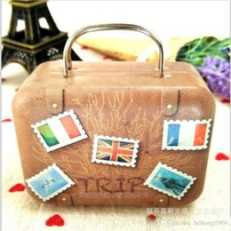 Wholesale large wholesale candy boxes - Storage Bag Large Capacity Durable Retro Suitcase Outdoor Practical Handbag Candy Box Coin Purse Portable Many Style Select 2 7mp H R