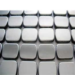 Wholesale Square Gift Tin Box - Small size hinge tin box square tin silver gift box sealing plain tin wedding candy boxes a869-a875