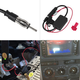 Wholesale 12v Car Antenna - Black 12V Car Automobile Radio Signal Amplifier ANT-208 Auto FM AM Antenna Booster