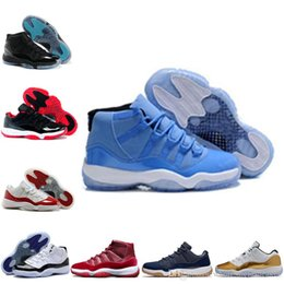 Wholesale Old Cheap - cheap air re-old 11 GS bred concord space jam men basketball shoes closing Ceremony cheap sneakers Varsity Red discount shoes sports shoes