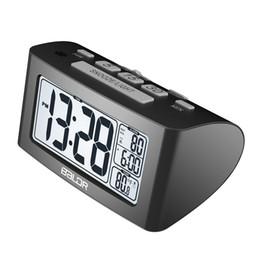 Argentina Temporizador de siesta digital Reloj de alarma Configuración rápida Pantalla LCD de temperatura Relojes de mesa de escritorio Termómetro de luz de fondo blanca Suministro
