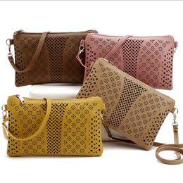 Wholesale Small Cheap Casual Bag - 8 colors Cheap Wholesale new 2017 fashion hollow out bags women famous brands crossbody bags women Casual envelop shoulder bags