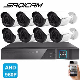 Wholesale New Dvr Surveillance System - Saqicam New HD 1.3MP AHD 1500TVL Outdoor CCTV Surveillance System 8CH 1080N AHD DVR Hybrid Kit 8*960P Security Camera System