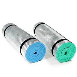 Wholesale Wholesale Outdoor Foam - Wholesale- Yoga Fitness Outdoor Exercise Pad Mats Aluminium 180x50x0.6cm EVA Foam Picnic waterproof pad