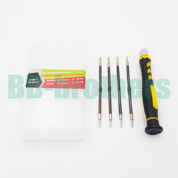 Wholesale T5 T6 Screwdriver Set - 5 in 1 NO. 8801A Combination Screwdriver Set Key High CR-V Magnetic Screwdrivers Kit T2 T4 T5 T6 PH00 PH000 0.8 1.2 Pentalobe 50set