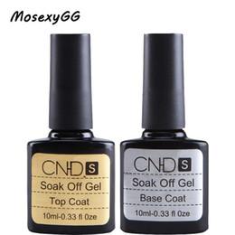Wholesale Uv Gel Brands Nails - Wholesale- Professional Base Coat + Top Coat Set 2pcs Brand 10ml UV Gel Polish DIY UV Gel Curing With UV Lamp Nail Gel Multi-Use