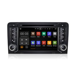 Wholesale S3 Tv Wifi - Android 5.1 Car DVD Radio Player GPS Quad Core for Audi A3 2003-2011 S3 RS3 RNSE-PU With Wifi 3G Bluetooth DAB CanBus