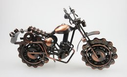 Wholesale Handmade Metal Motorcycles - Metal Crafts Decoration Home Furnishing handmade large iron motorcycle model creative gift exquisite environmental random delivery