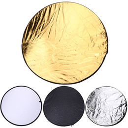 Wholesale Photo Discs - 80cm 5 in 1 Photography Studio Light Mulit Photo Disc Collapsible Light Reflector Round Disk with Zipped Round Carrying Bag