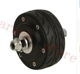 Wholesale Electric Bike Hub Motor Kits - free shipping 80W 36v 4 inch double shaft electric scooter motor electric hub motor for scooter electric bike kit