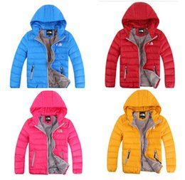 Wholesale Girls Coat Hooded Down - Wholesale 2017 Children's Outerwear Boy and Girl Winter Warm Hooded Coat Children Cotton-Padded Down Jacket Kid Jackets 3-10 Years